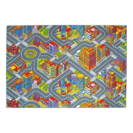 Kinderspielteppich Motiv Big City 140 x 200 cm