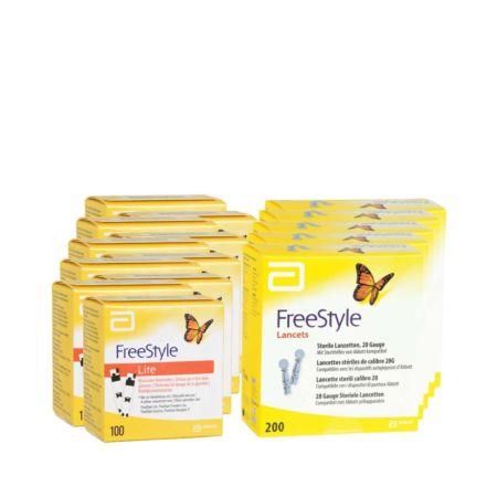 Abbott FreeStyle Lite Teststreifen 10 x 100 + 5 x 200 FreeStyleLanzetten