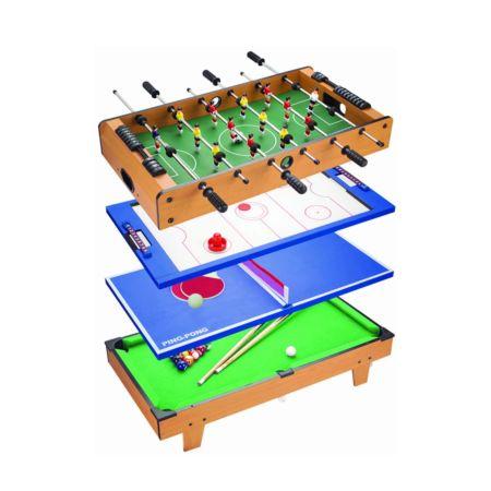 4in1 Fussball-, Hockey-, Pingpong- und Billiardtisch