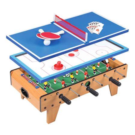 4in1 Fussball-, Hockey-, Pingpong- und Pokertisch