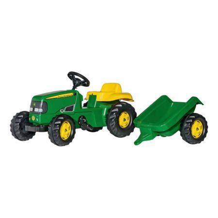 John Deere Traktor mit Anhänger