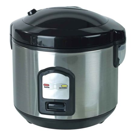 EMERIO Cuiseur à riz RCE-106051 Eco acier inoxydable 1 litre 400 watts