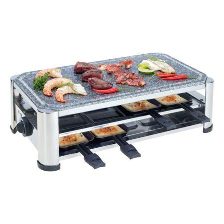 Nouvel Raclettegerät mit Grillplatte und Grillstein
