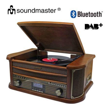 Soundmaster Nostalgie-HiFi mit Plattenspieler und DAB+