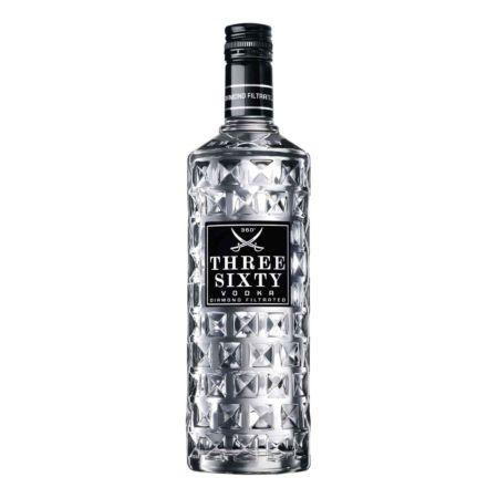 Vodka Three Sixty mit 4 Gläser 300 cl