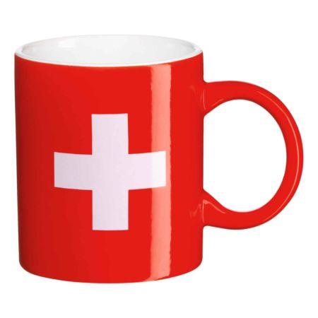 Kaffeetasse mit Schweizer Kreuz