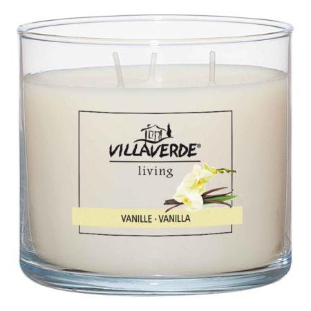 Villa Verde Duftkerze im Glas 3-Docht Vanille