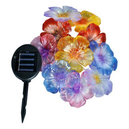 Solar-LED Blumengirlande