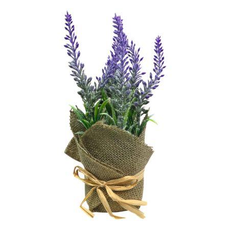 Deko-Lavendel in Jutesack 21 cm