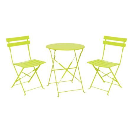 Bistro-Set Campos 3-teilig grün