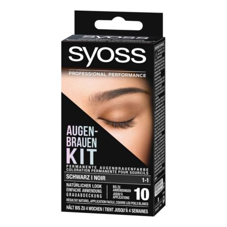Syoss Augenbrauen Kit Schwarz 1-1 10 ml