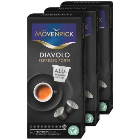 Mövenpick Kaffee Diavolo Espresso Forte 3 x 10 Kapseln