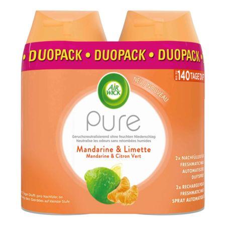Air Wick Pure Automatisches Duftspray Freshmatic Max Nachfüller Mandarine & Limette 2 x 250 ml