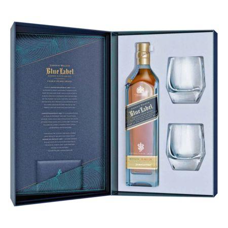 Johnnie Walker Blue Label mit 2 Whiskygläser