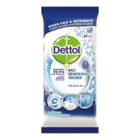 Dettol Bad Reinigungstücher 2 x 60 Tücher