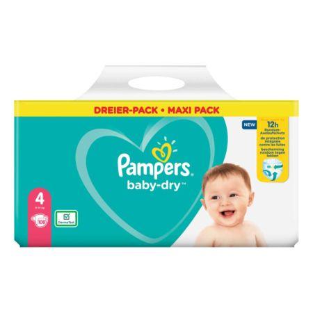 Pampers Baby-Dry Gr. 4, 9-14 kg, 108 Windeln