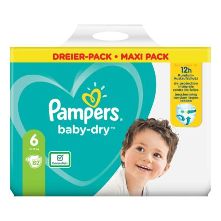 Pampers Baby-Dry Gr. 6, 13-18 kg, 82 Windeln