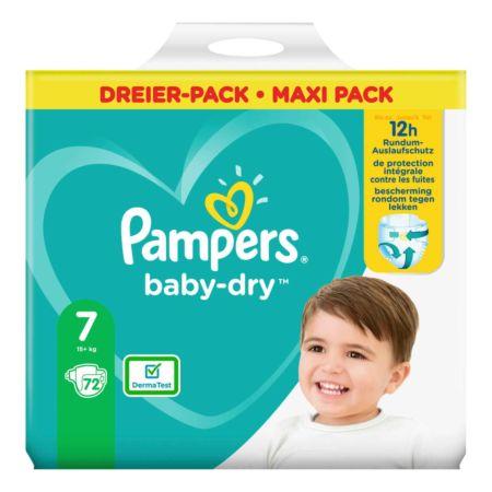 Pampers Baby-Dry Gr. 7, 15+ kg, 72 Windeln
