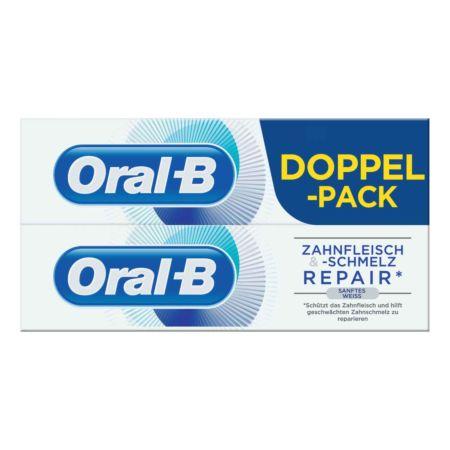 Oral-B Zahnpasta Zahnfleisch- & Schmelz Repair Sanftes Weiss 2 x 75 ml