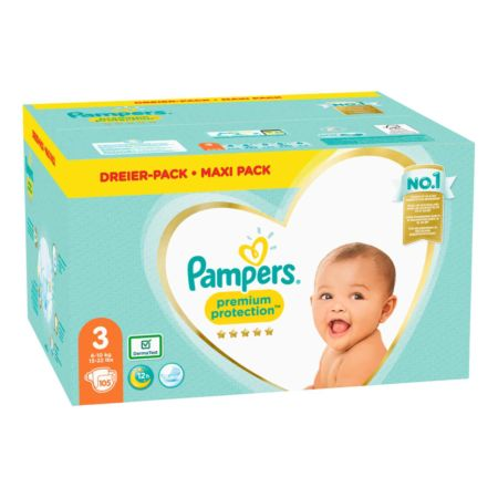 Pampers Premium Protection Gr. 3 6-10 kg Maxi Pack 105 Windeln