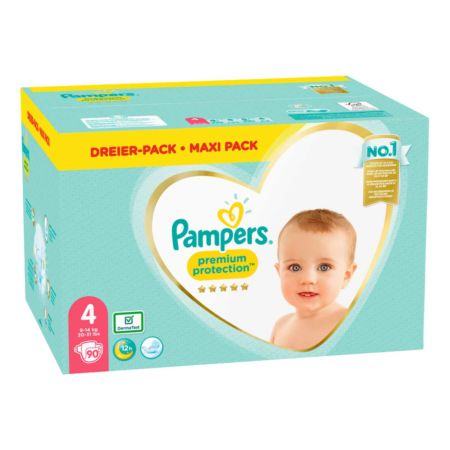 Pampers Premium Protection Gr. 4 9-14 kg Maxi Pack 90 Windeln
