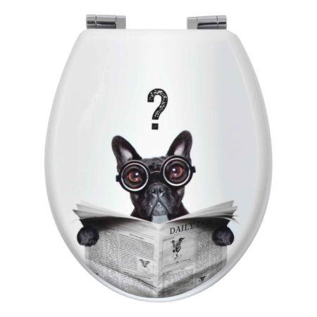 WC-Sitz Hund Mops mit Absenkautomatik