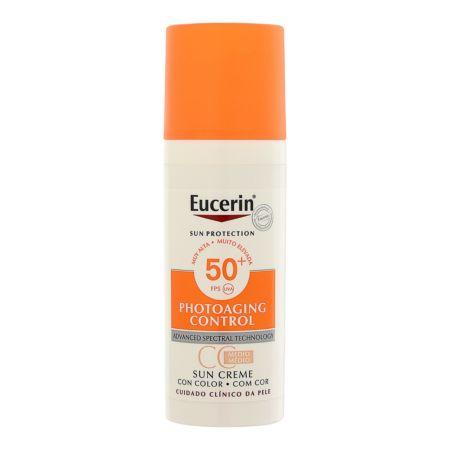 Eucerin Photoaging Control Face Sun Creme getönt LSF 50+ Medium 50 ml