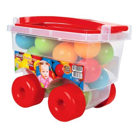 Trolley mit Bällen
