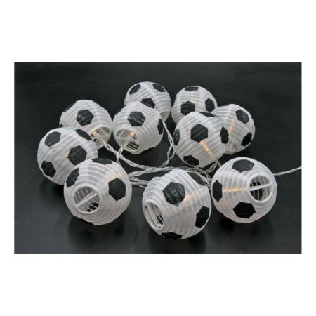 Lampion Kette Fussball LED Indoor 180 cm