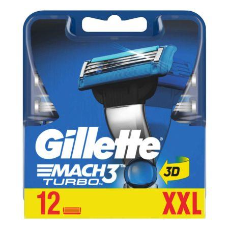Gillette  Mach3 Turbo Rasierklingen 12 Stück