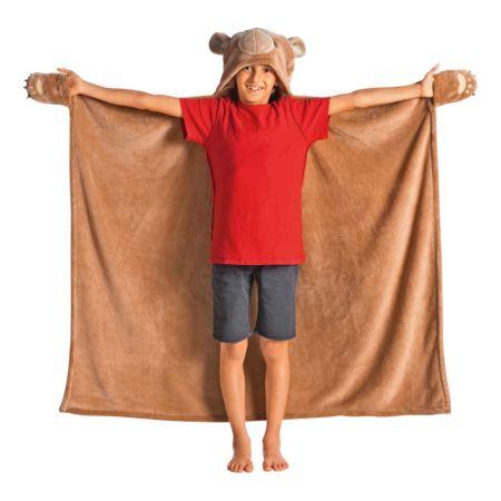Kinder-Kapuzendecke Bär