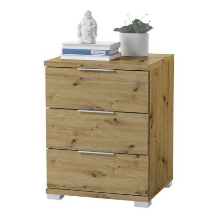 Nachttisch Dormo, artisan Eiche 3 Schubladen