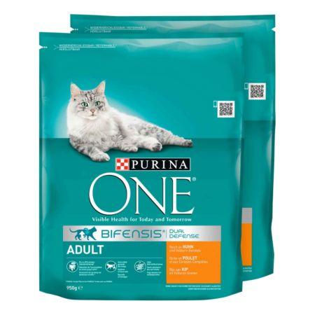 PURINA One Adult Huhn und Vollkorn-Getreide 2 x 600 g