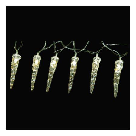 Lichterkette Eiszapfen 8 m warmweiss