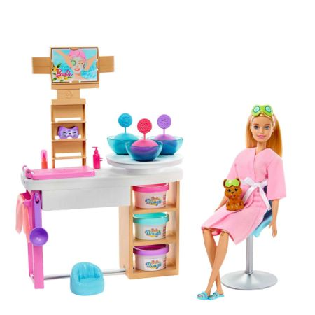 Barbie Wellness Spielset mit Puppe