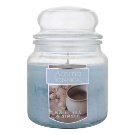 AROMA BOTANICAL White Tea & Ginger Duftkerze im Glas Ø 10 x 13 cm
