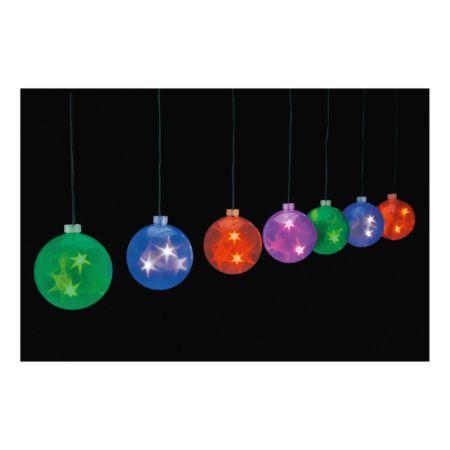 LED-Weihnachtslichterkette farbig
