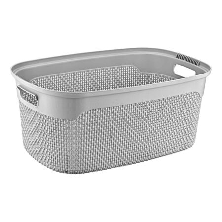 Wäschekorb grau 30 l