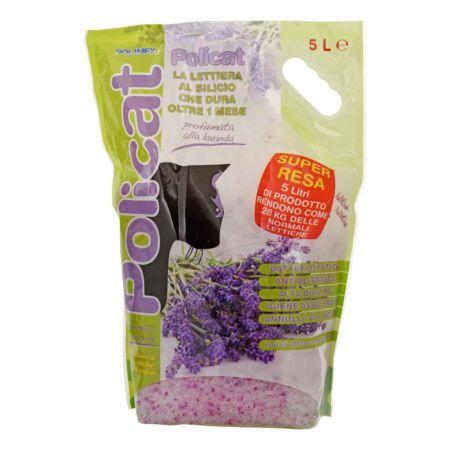 Policat Silizium-Katzenstreu Lavendelduft 5 l