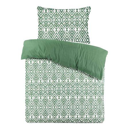 Bettwäsche grün mit Ethno-Muster
