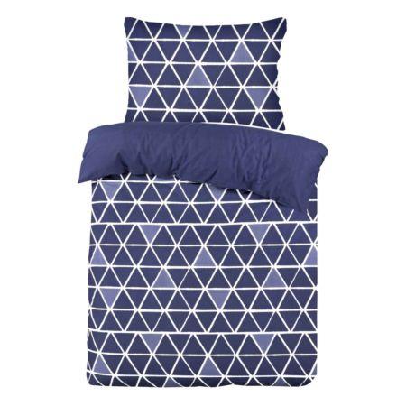 Bettwäsche blau mit Dreiecken