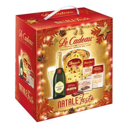 Geschenkkorb Natale in Festa Panettone 5-teilig