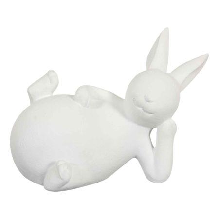 Deko-Figur Hase liegend 15 x 8.5 cm