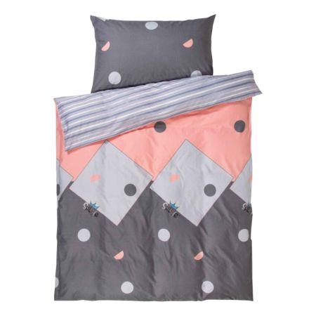 Bettwäsche mit geometrischen Formen und Linien