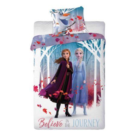 Bettwäsche Frozen mit Elsa, Anna und Olaf