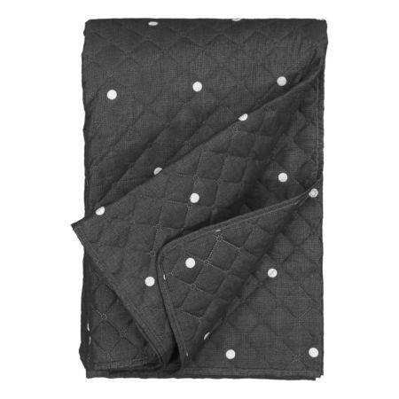 Bettüberwurf gemustert mit Stickerei