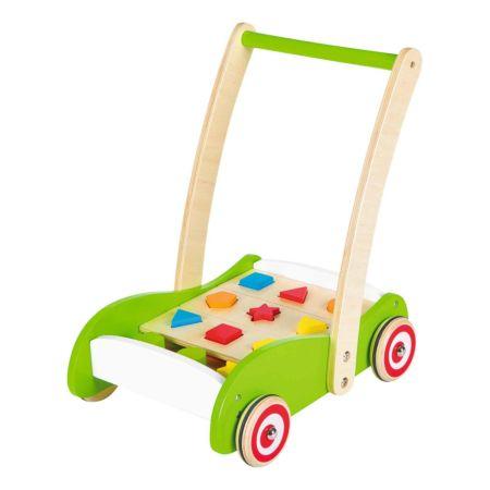 Holz Baby Walker mit Formenspiel
