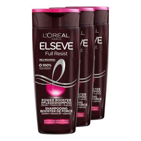 L'Oréal Elseve Full Resist Power Booster Pflegeshampoo 3 x 250 ml