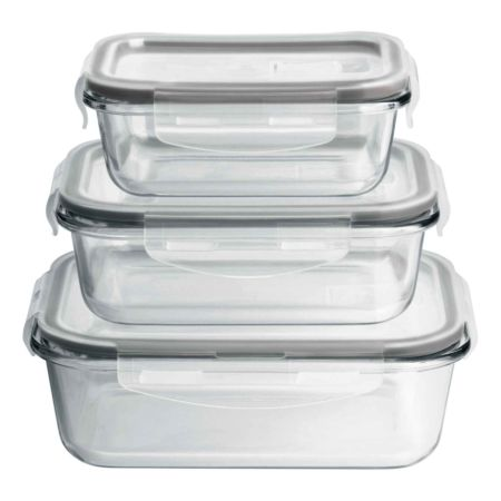 MAXXMEE Glas-Frischhaltedosen 6-teilig
