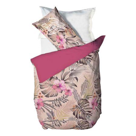 Bettwäsche mit Blumen und Blättern